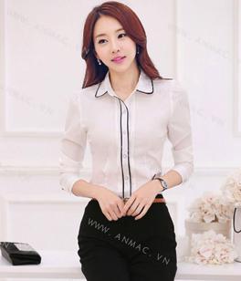 Đồng phục áo sơ mi nữ công sở 04