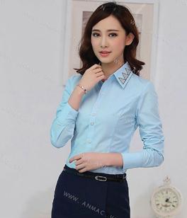 Đồng phục áo sơ mi nữ công sở 06