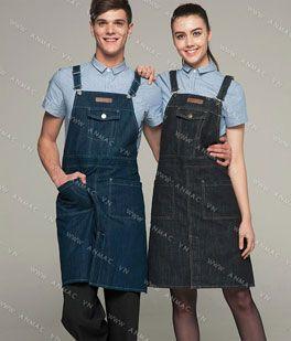 Đồng phục nhân viên áo phông – tạp dề 1APTD58