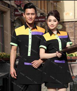 Đồng phục nhân viên áo phông – tạp dề 1APTD65