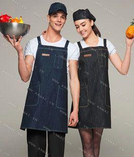 Đồng phục nhân viên áo phông – tạp dề 1APTD68