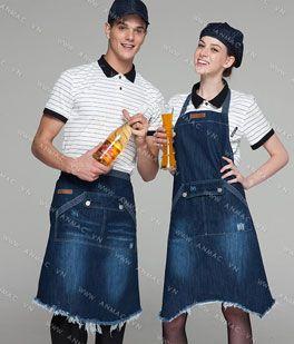 Đồng phục nhân viên áo phông – tạp dề 1APTD69
