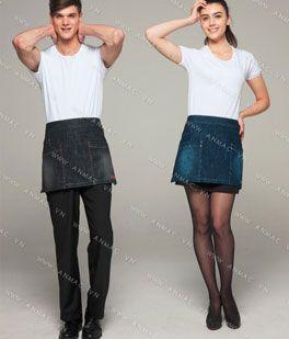 Đồng phục nhân viên áo phông – tạp dề 1APTD57