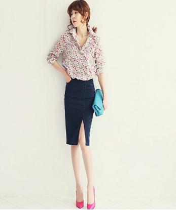 Đồng phục chân váy công sở 1VZ36