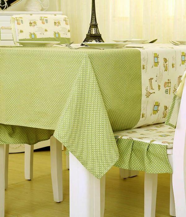 Khăn trải bàn – áo bàn – áo ghế 1KB08