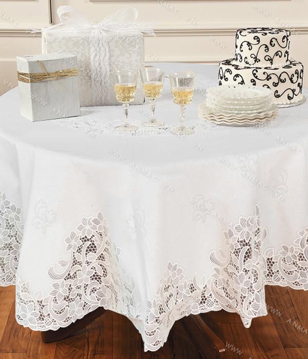 Khăn trải bàn – áo bàn – áo ghế 1KB03