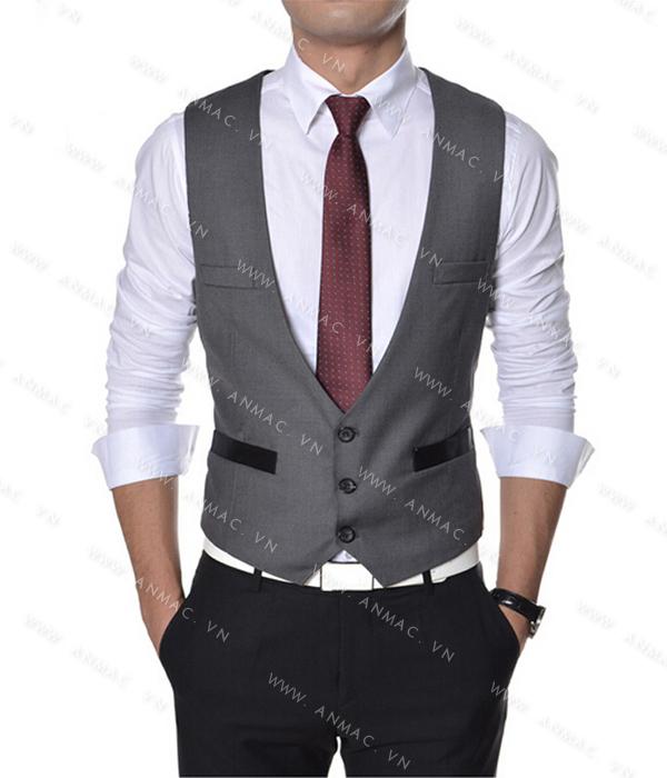 Đồng phục áo Gile nam công sở 1GNA54