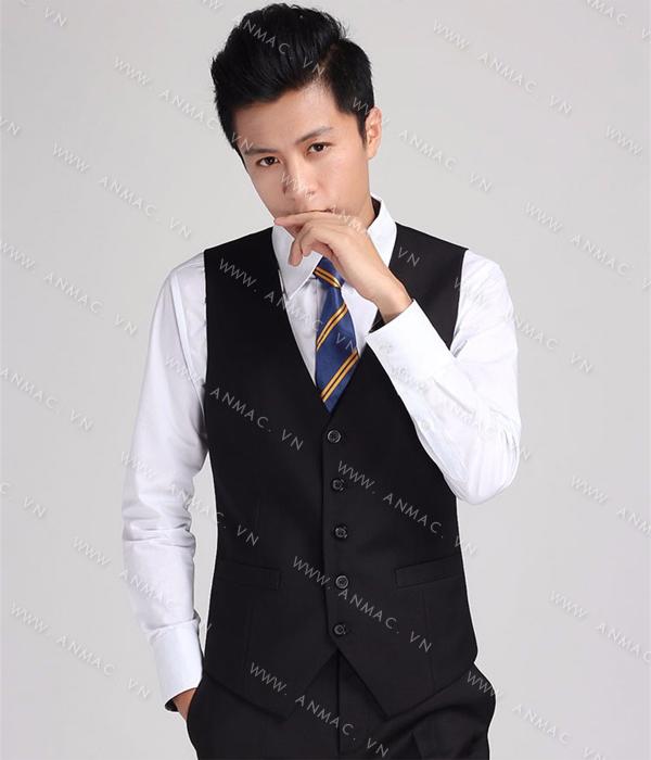 Đồng phục áo Gile nam công sở 1GNA61