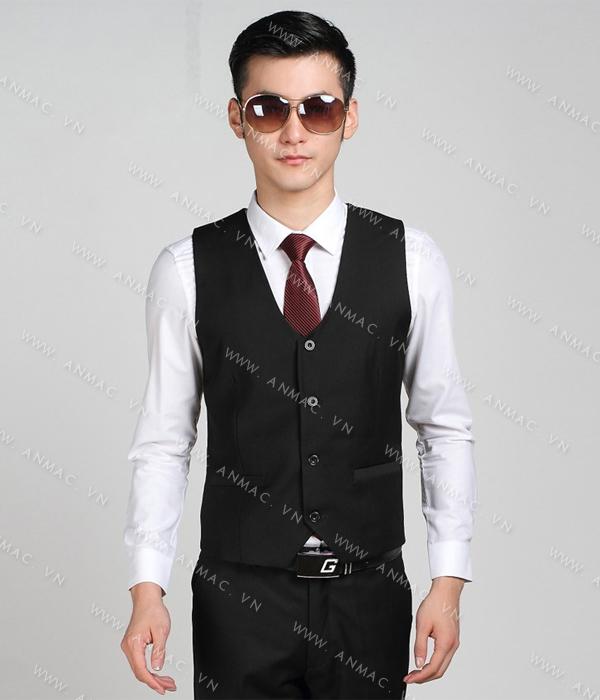 Đồng phục áo Gile nam công sở 1GNA63