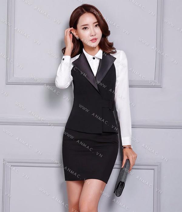 Đồng phục áo Gile nữ công sở 49