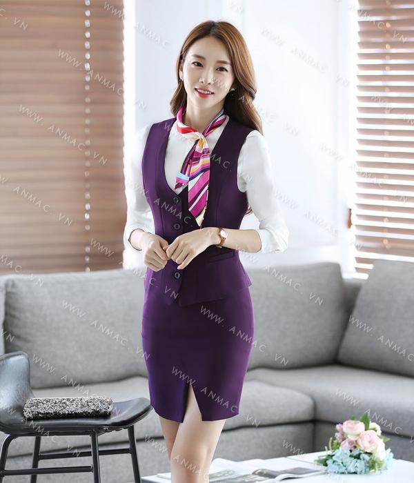Đồng phục áo Gile nữ công sở 51