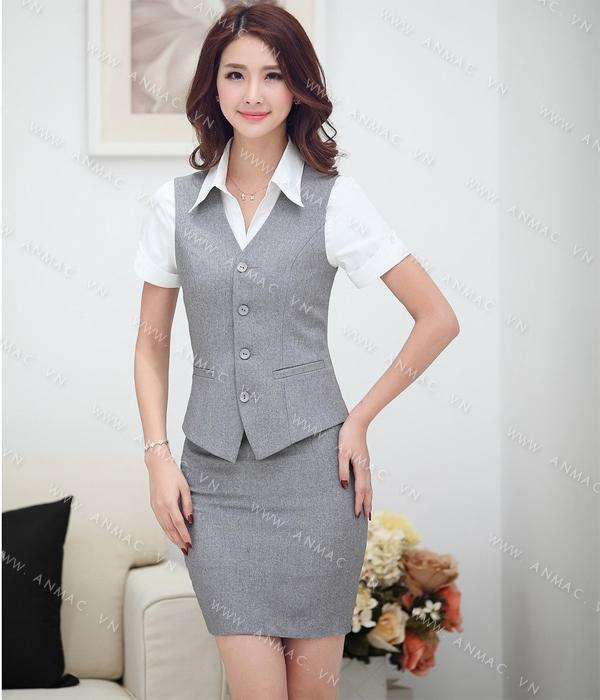 Đồng phục áo Gile nữ công sở 53