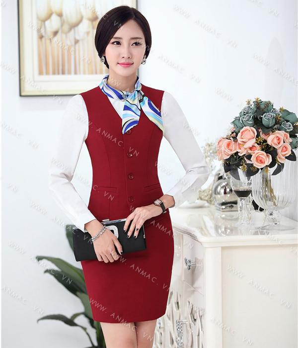 Đồng phục áo Gile nữ công sở 54