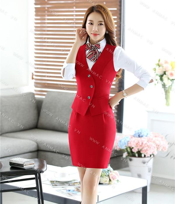 Đồng phục áo Gile nữ công sở 56