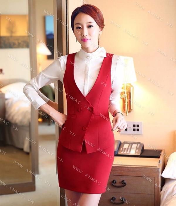 Đồng phục áo Gile nữ công sở 60