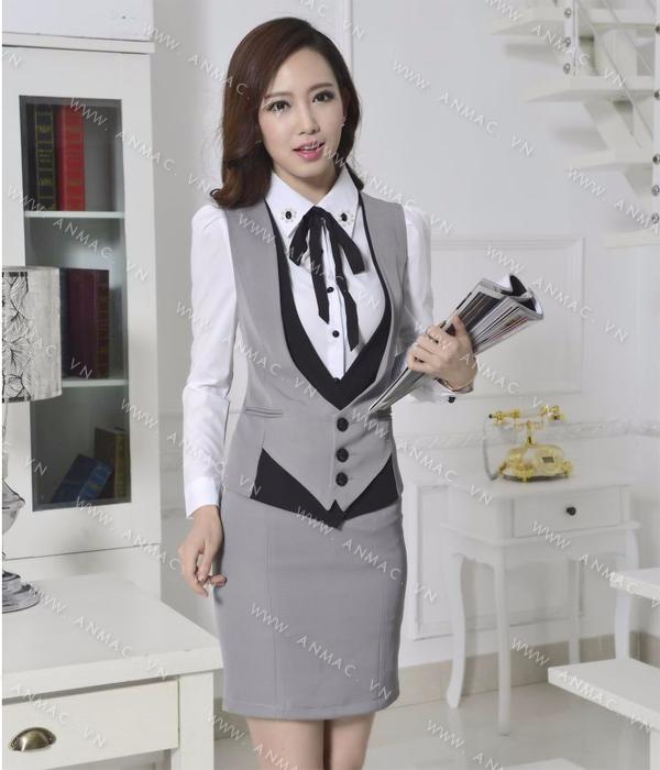 Đồng phục áo Gile nữ công sở 64