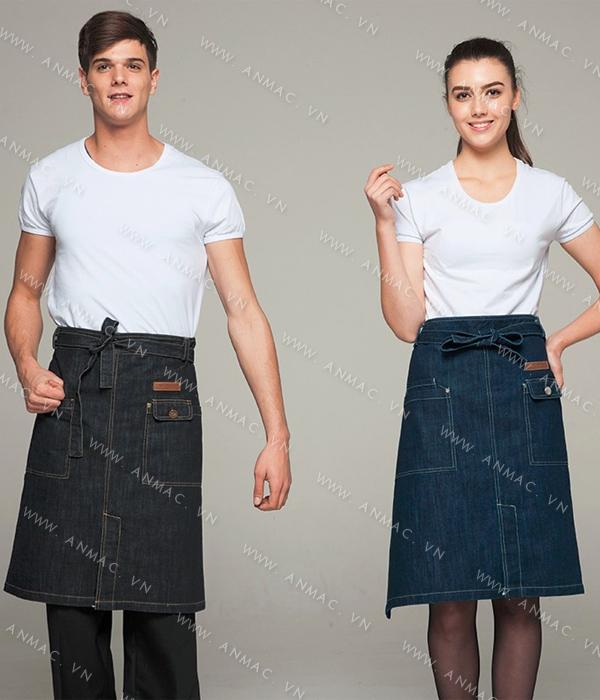 Đồng phục nhân viên áo phông – tạp dề 1APTD55