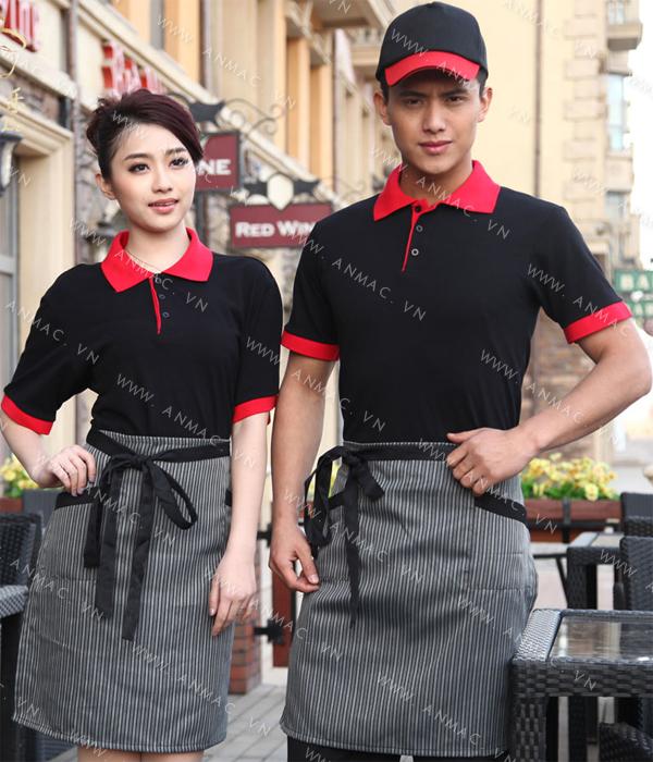 Đồng phục nhân viên áo phông – tạp dề 1APTD56