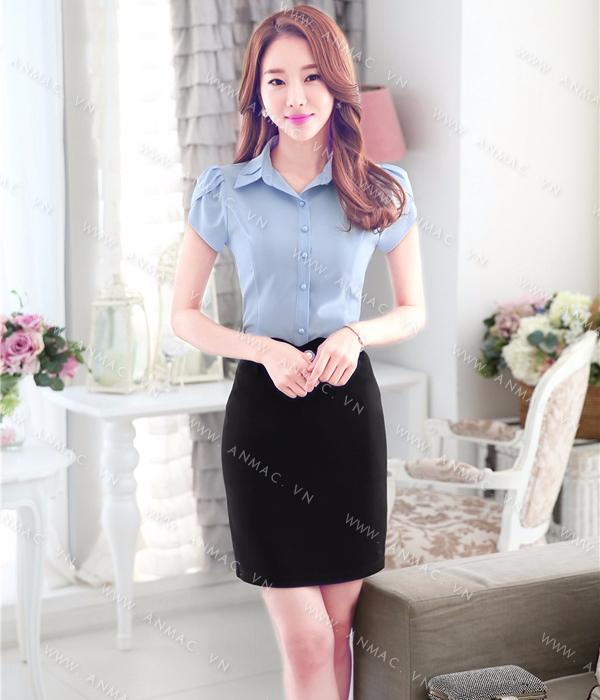 Đồng phục áo sơ mi nữ công sở 1SMU51