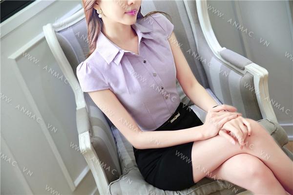 Đồng phục áo sơ mi nữ công sở 1SMU52