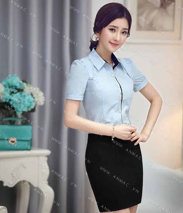 Đồng phục áo sơ mi nữ công sở 1SMU54