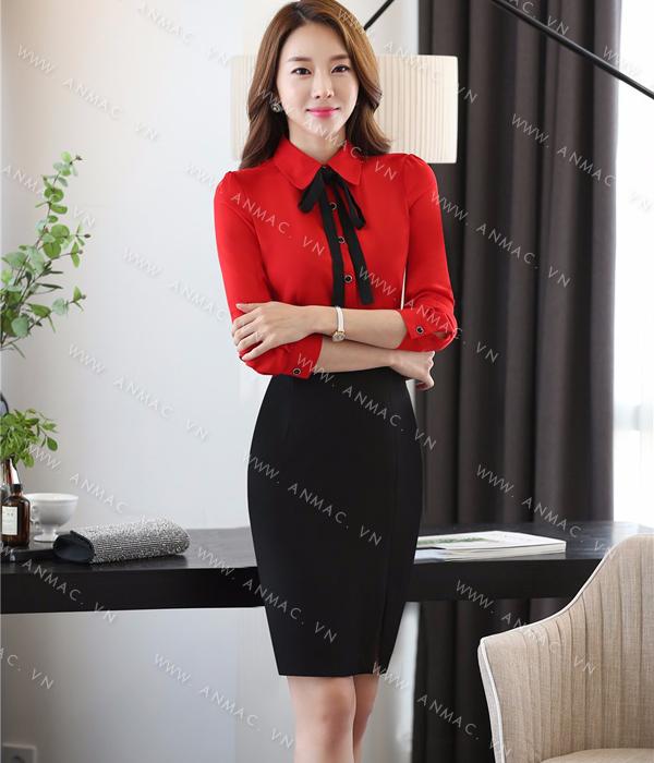 Đồng phục áo sơ mi nữ công sở 1SMU56