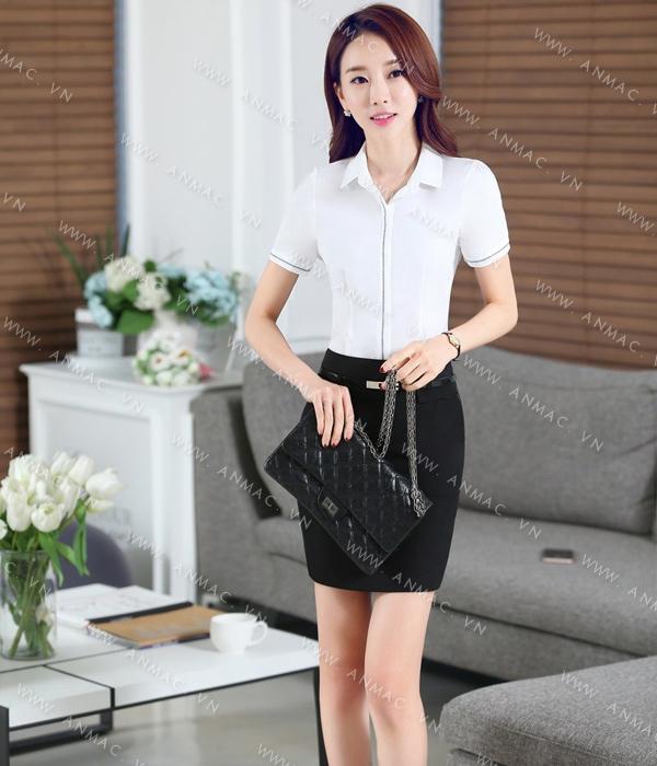 Đồng phục áo sơ mi nữ công sở 1SMU57