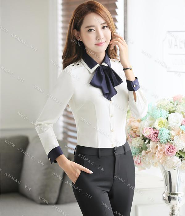 Đồng phục áo sơ mi nữ công sở 1SMU60