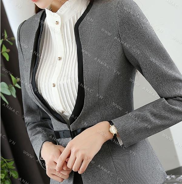 Đồng phục áo vest nữ công sở 1VNU49