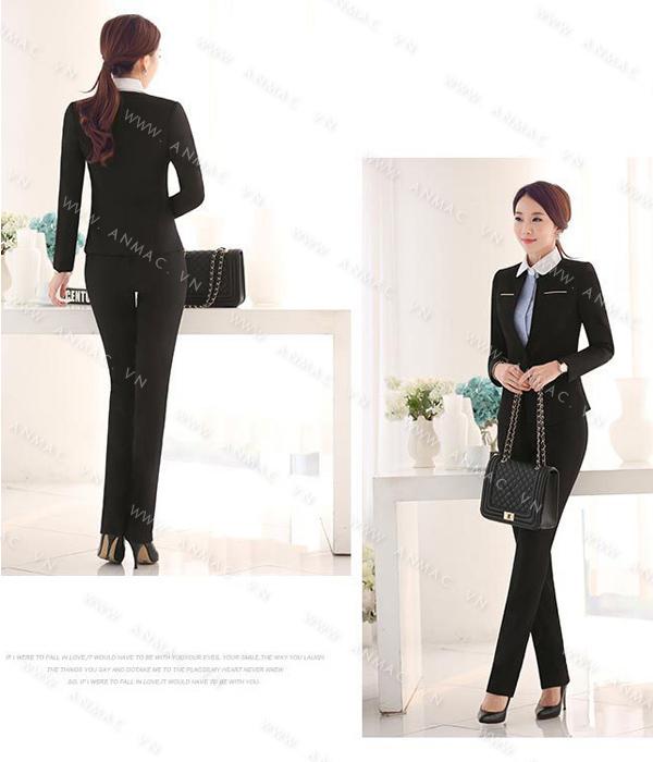 Đồng phục áo vest nữ công sở 1VNU51