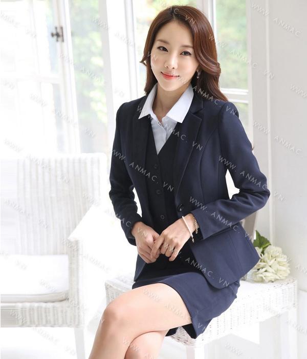 Đồng phục áo vest nữ công sở 1VNU52