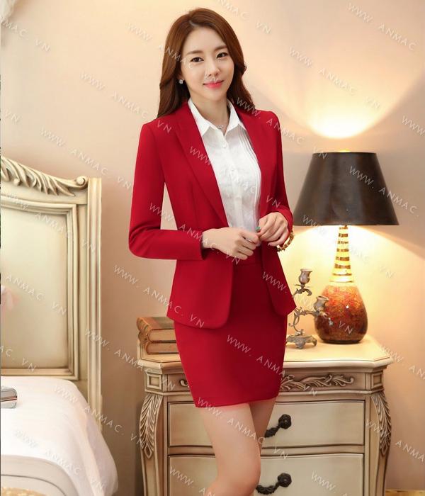 Đồng phục áo vest nữ công sở 1VNU55