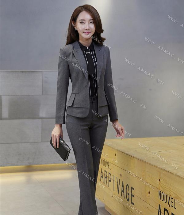 Đồng phục áo vest nữ công sở 1VNU58