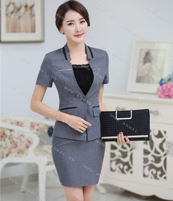 Đồng phục áo vest nữ công sở 1VNU61