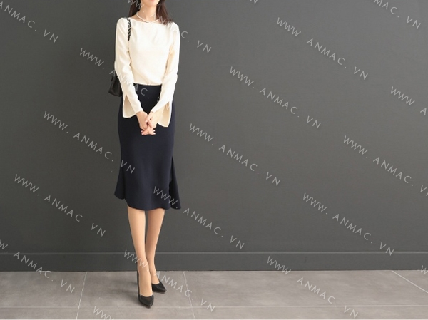 Đồng phục chân váy công sở 1VZ53
