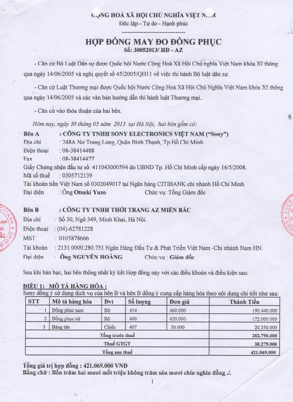 Công ty TNHH SONY Electronics Việt Nam (SONY)